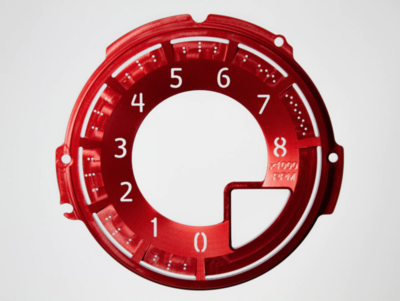 Red Edition Billet Tachometer plaat - ND MX5
